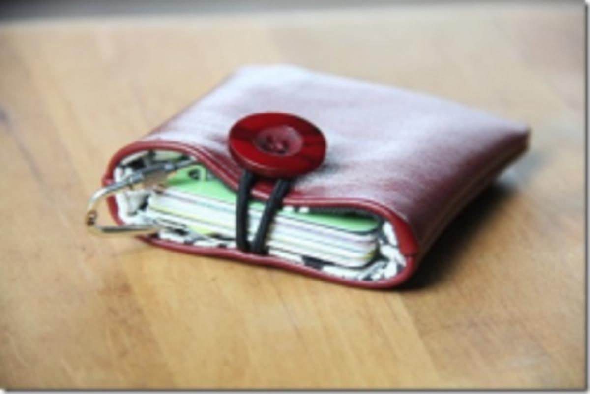 Small Gift Idea - Leather Pocket via CraftyStaci