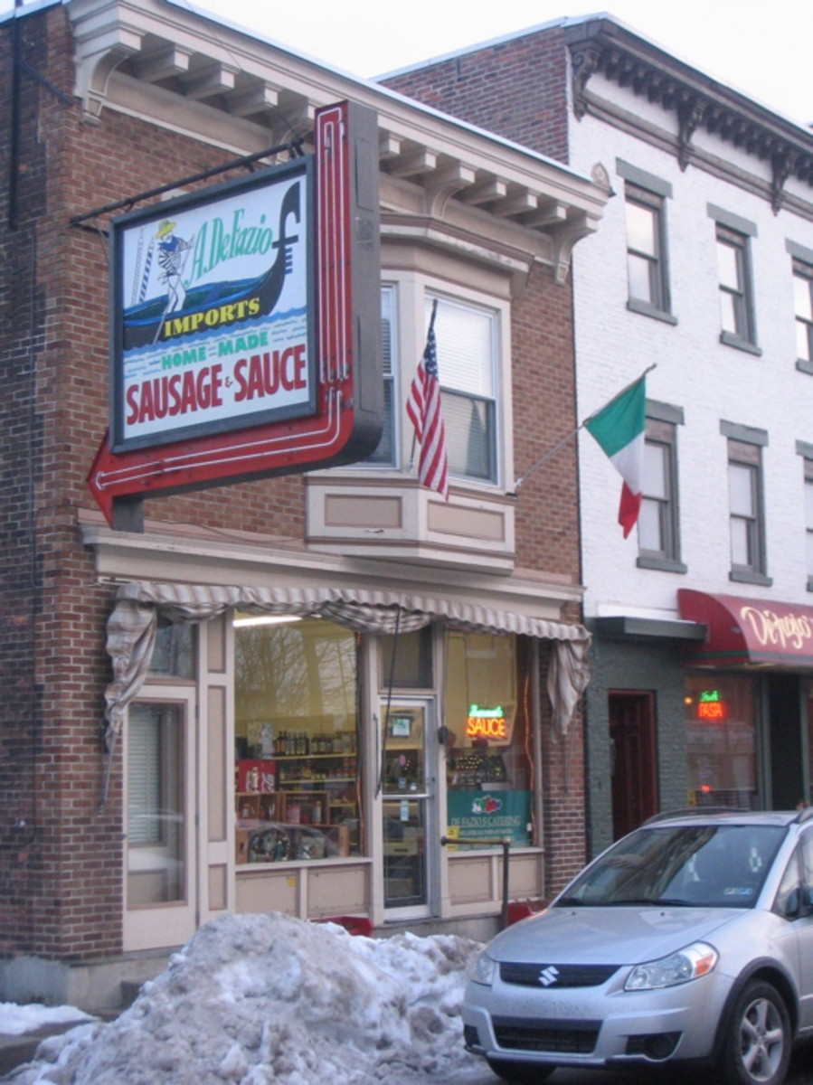 De Fazios, a mom and pop place, still in business after all these years, family owned.