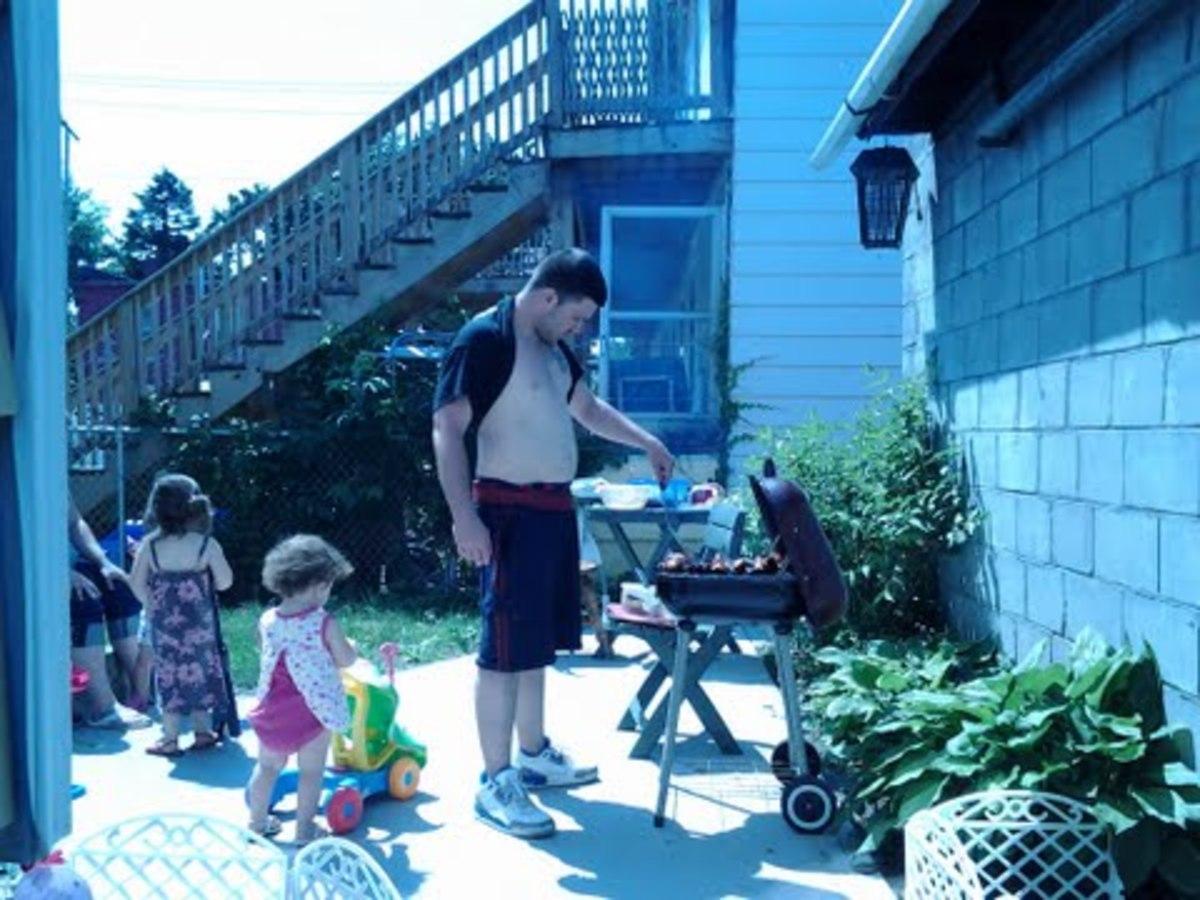 Backyard BBQ with my family