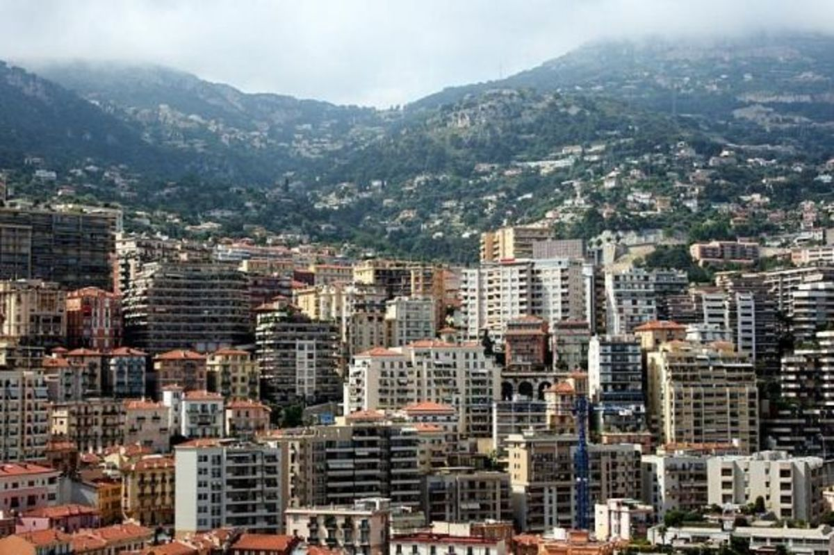 The mountains behind Monaco