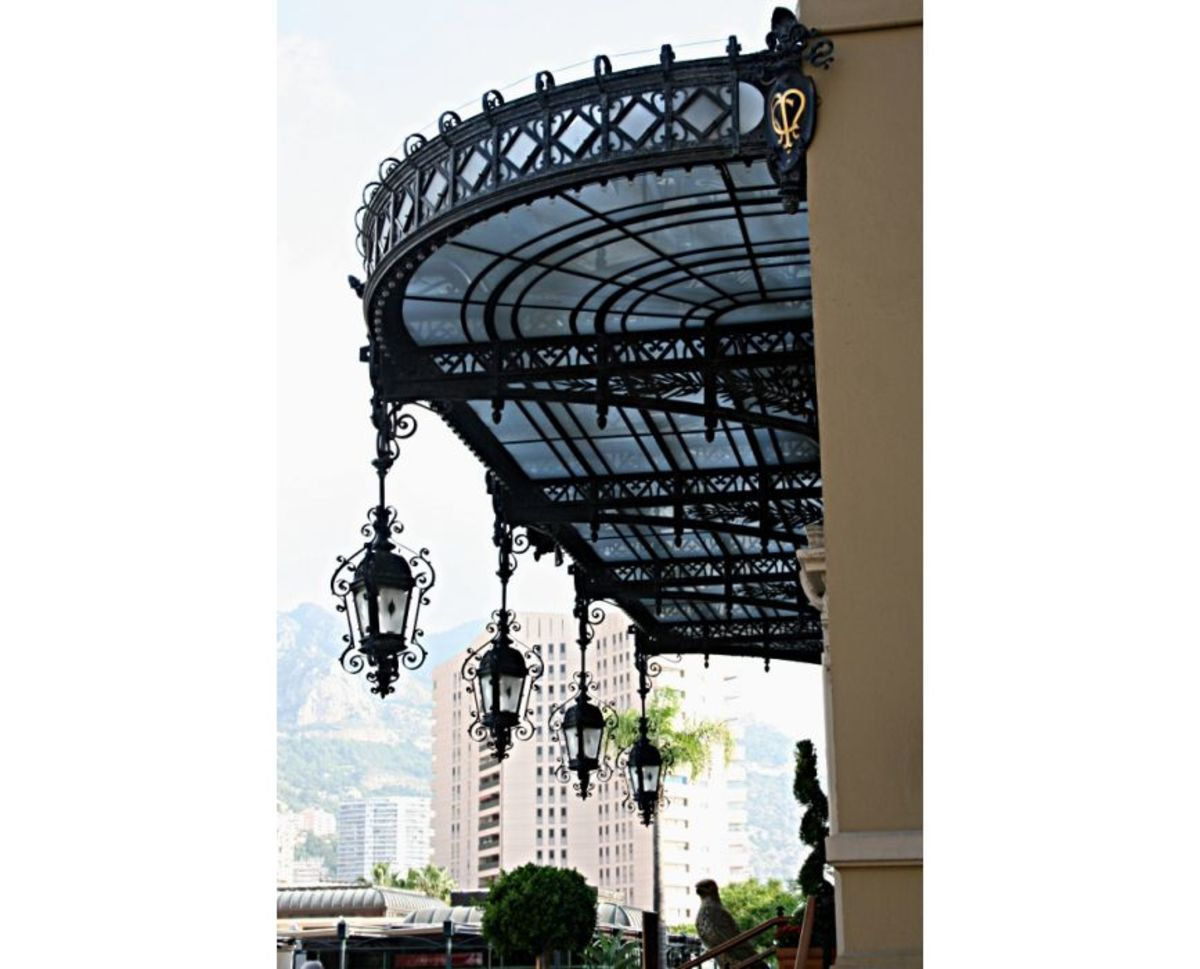 The canopy over the entrance to Monte Carlo's most famous building, the casino