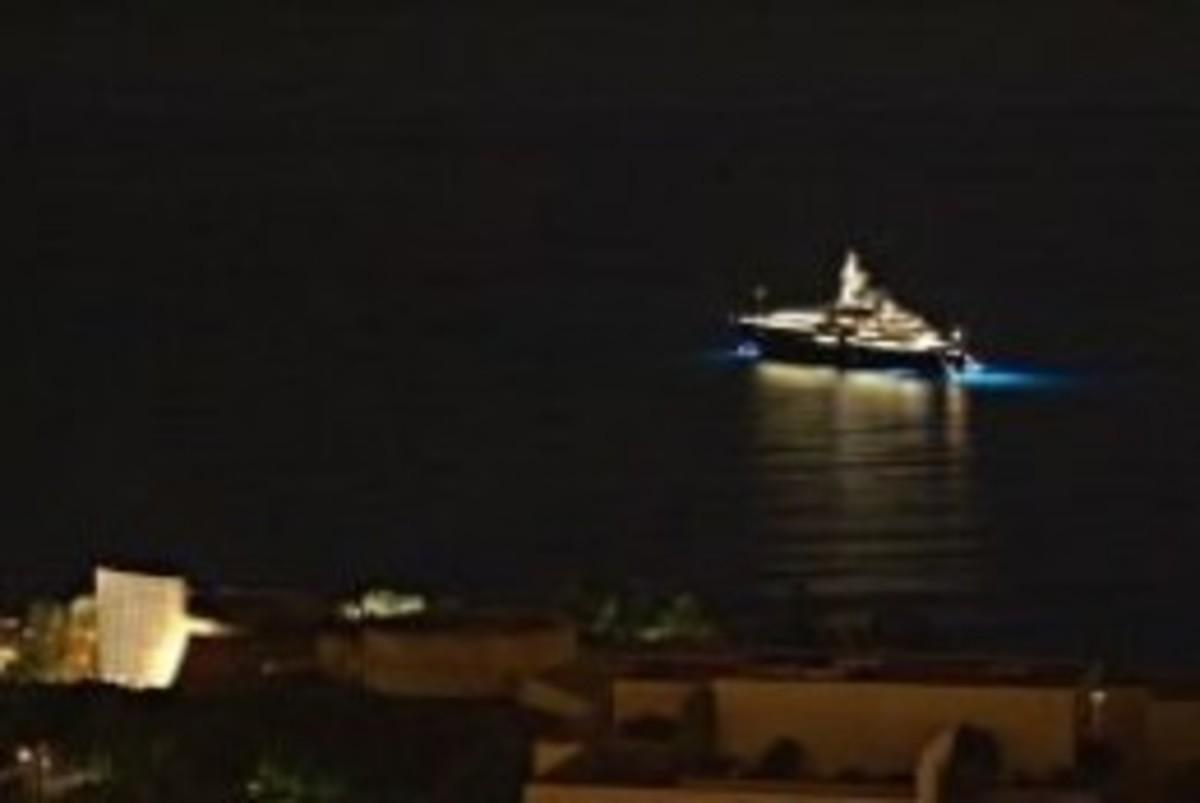 Monaco Bay at night