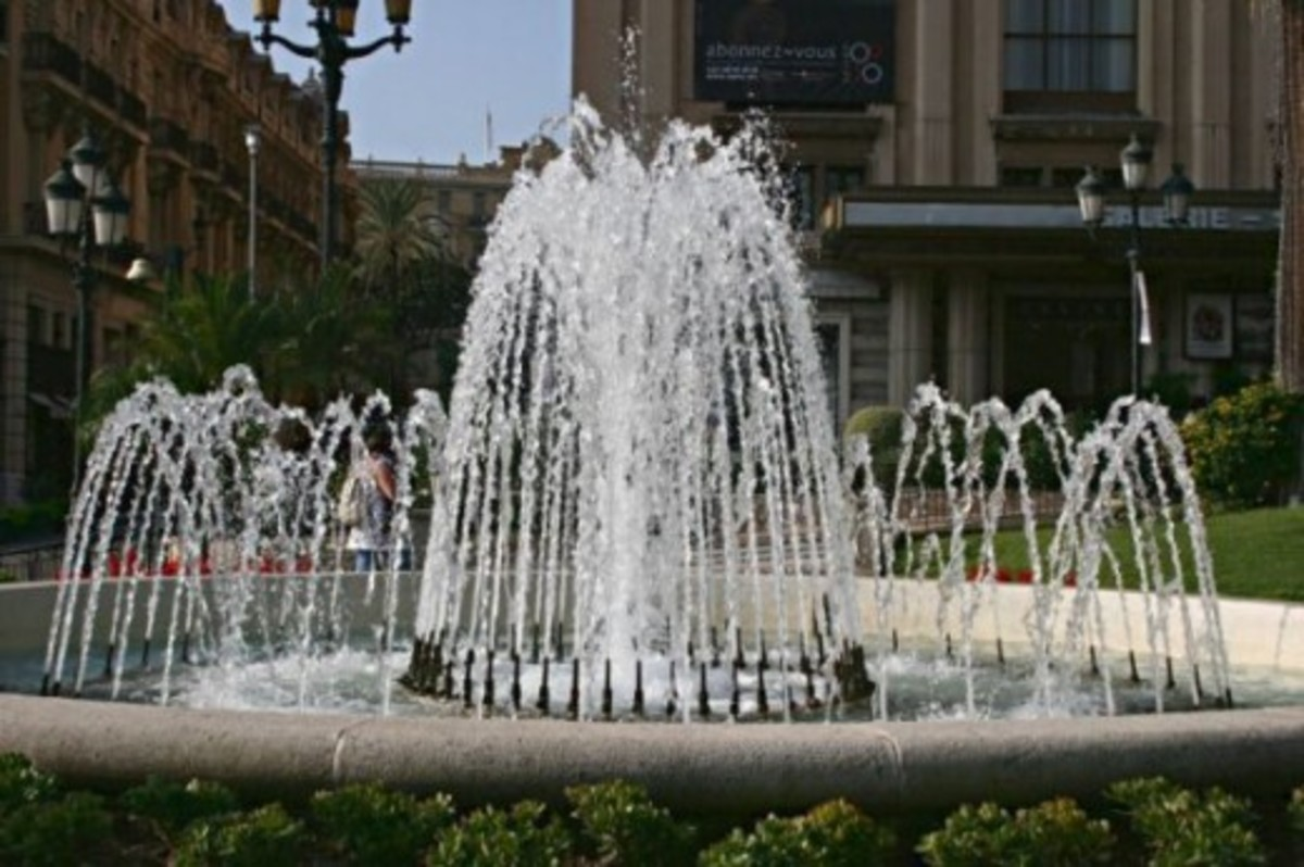 Fountains in the Casino Gardens