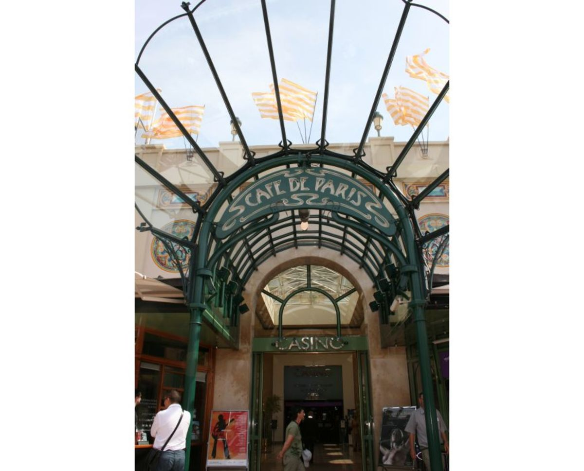 Entrance to the Café de Paris near the Casino, Monte Carlo