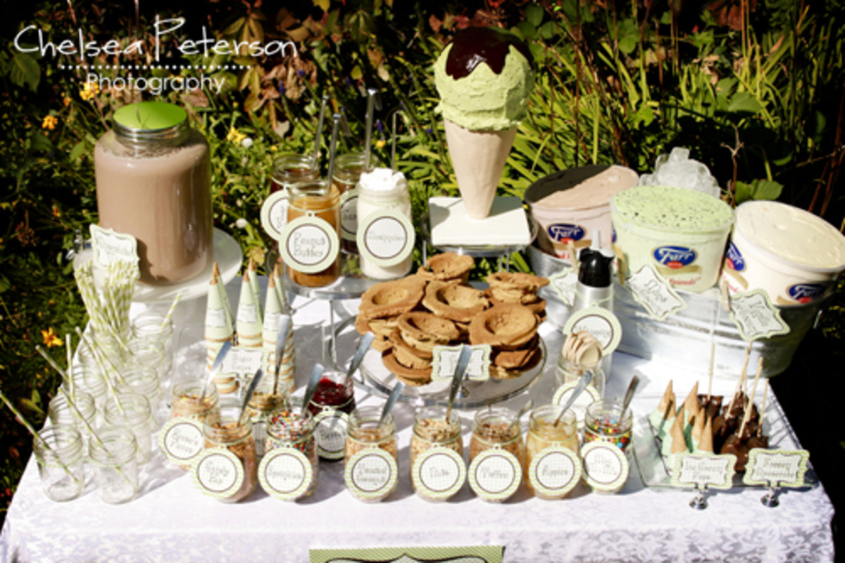 Mint Chocolate Ice Cream Station