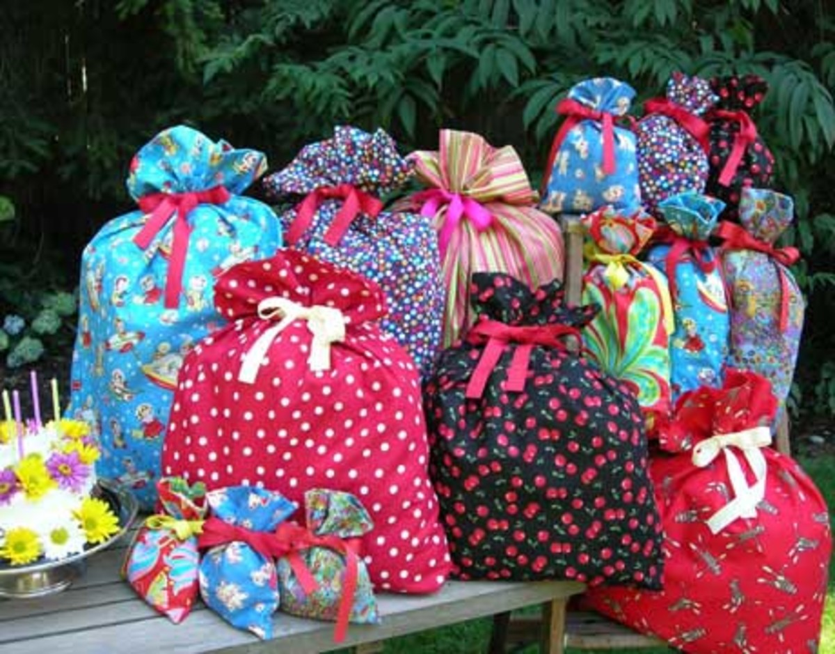 Encourage guests to wrap gifts in cloth or reusable materials