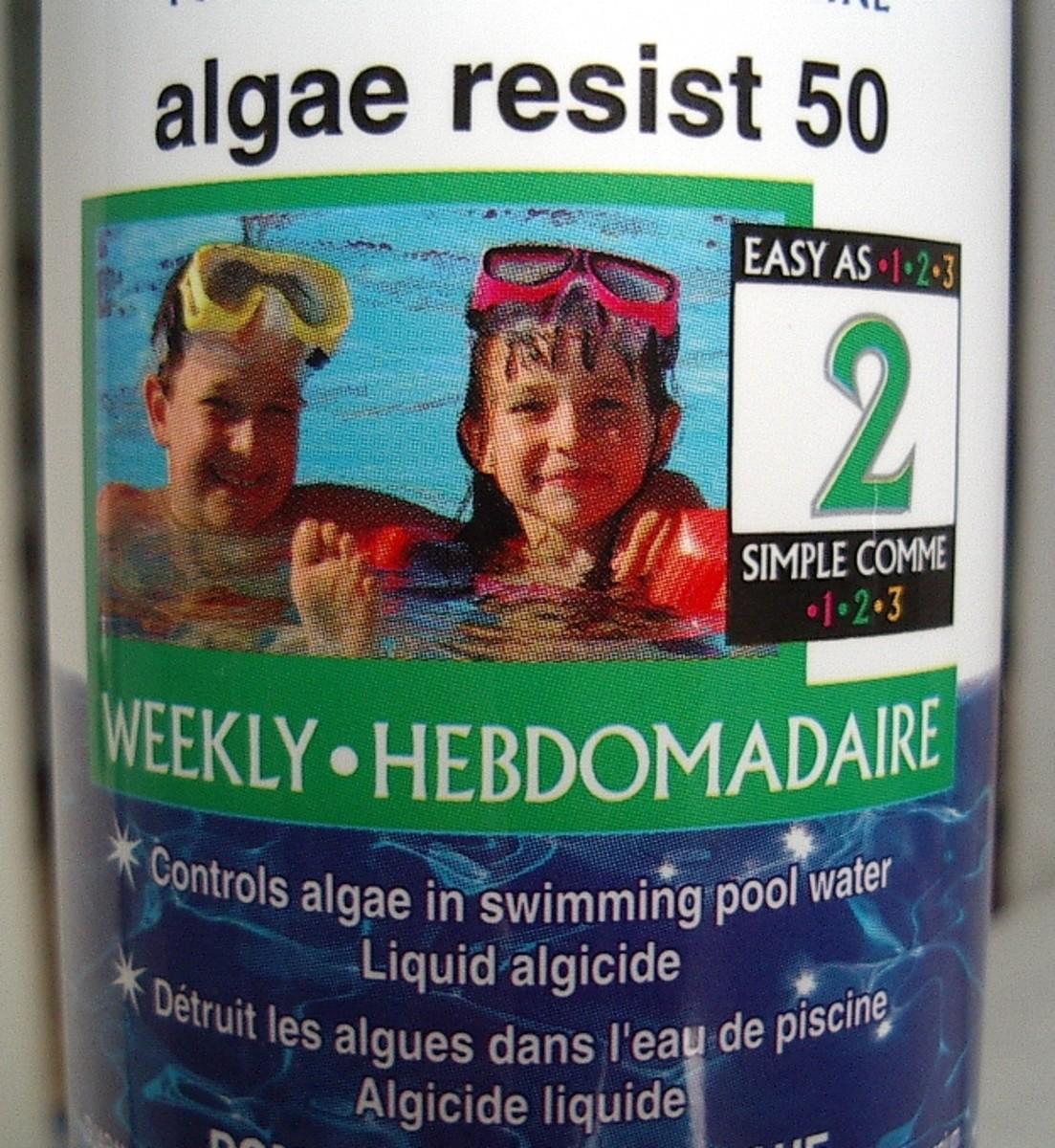 Use the algae resist if necessary