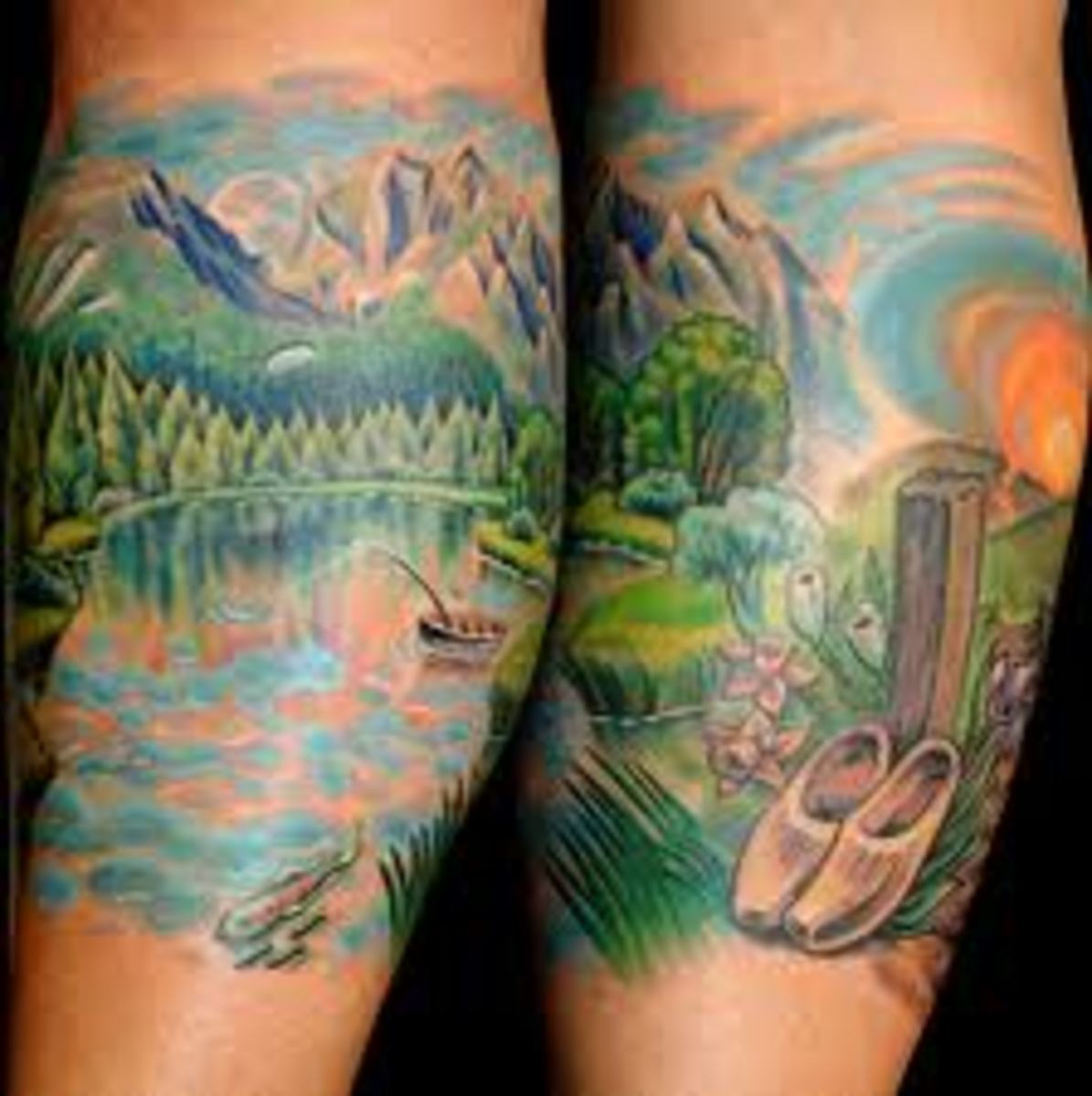 Landscape Tattoos And Designs-Landscape Tattoo Meanings And Ideas