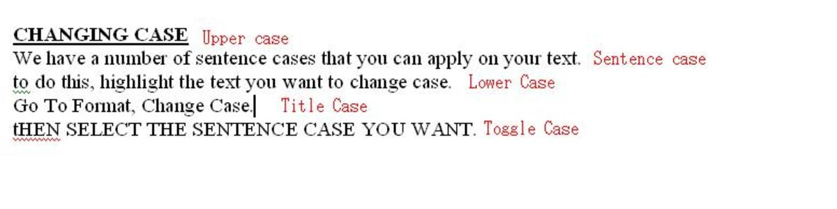 How your work appears after applying different cases.