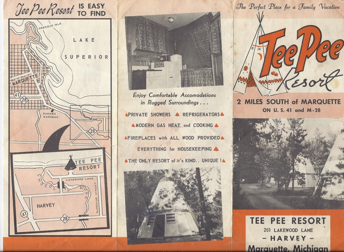 Childhood Memories of the TeePee Resort - Marquette, Michigan