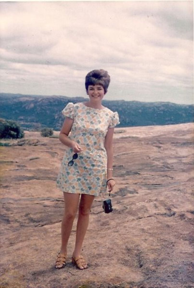 Lyn at Matopos in the 70s