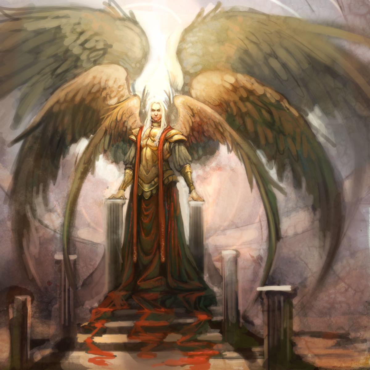 Lucifer is the supreme commander of all the negative angels.  In a way he is like God, but he cannot give life to anything.  So, he serves God in another way, by guiding this part of the universe to look after the negative souls until they die.