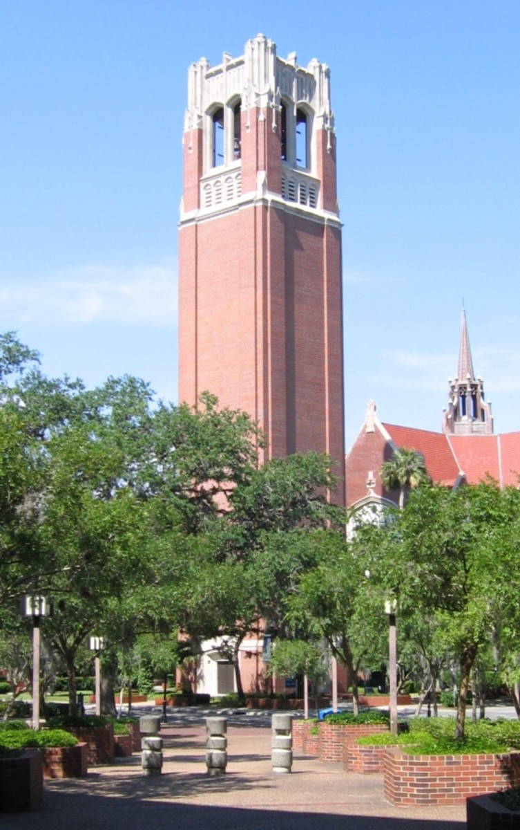 The University Century Tower, built to commemorate the 100th anniversary of the founding of university.  It also serves as a tribute to the alumni who died in the two world wars.