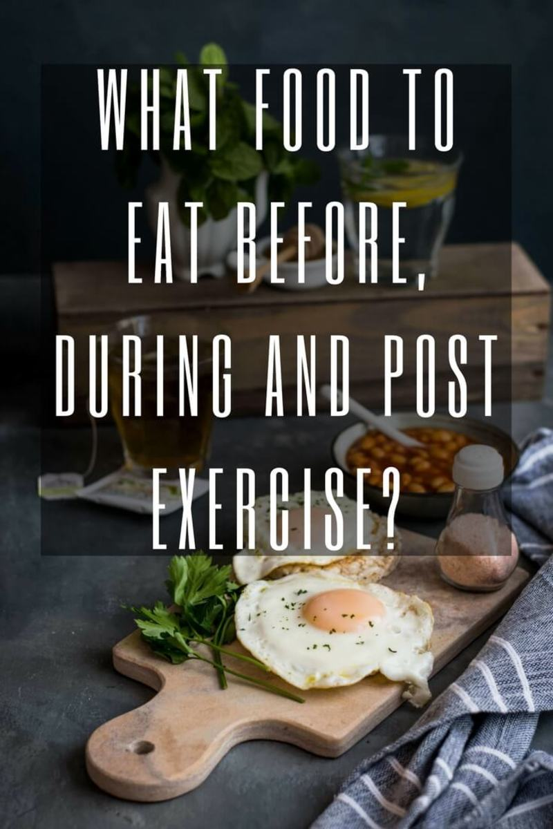 Food for Exercise - What to Eat Before, During and After Workout