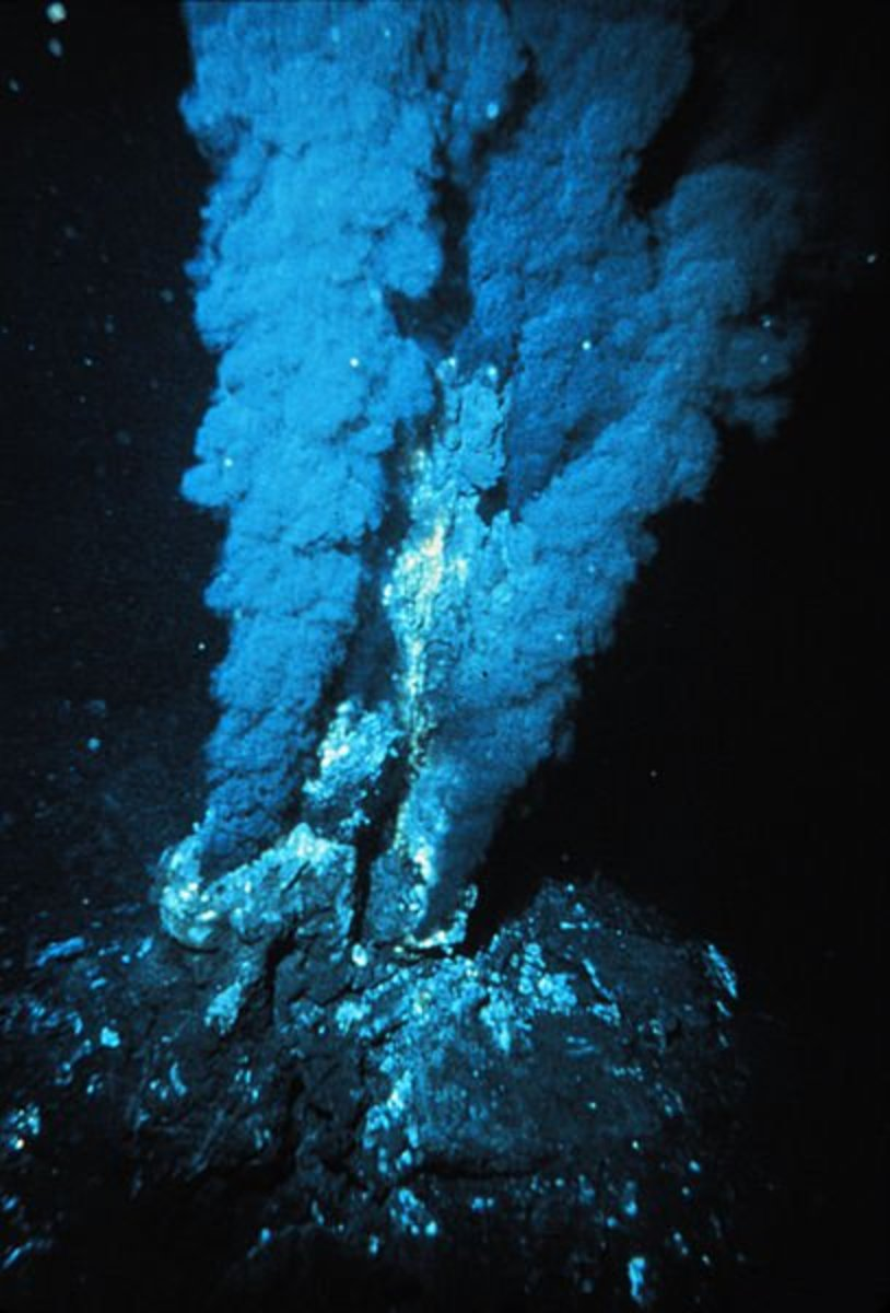 Deep sea vents like this one may have given birth to the earliest life forms through the energy they give.