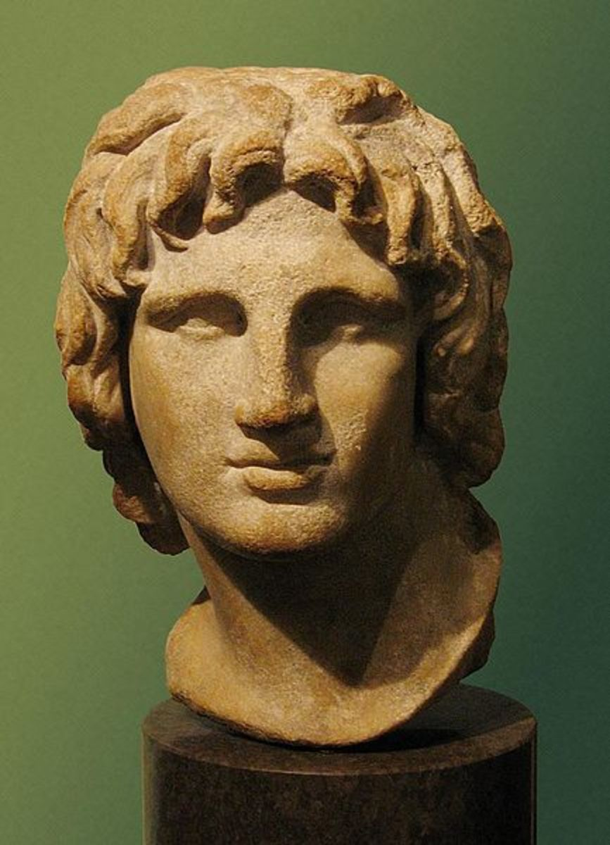 A bust of a young Alexander, but where does the great general lie today?