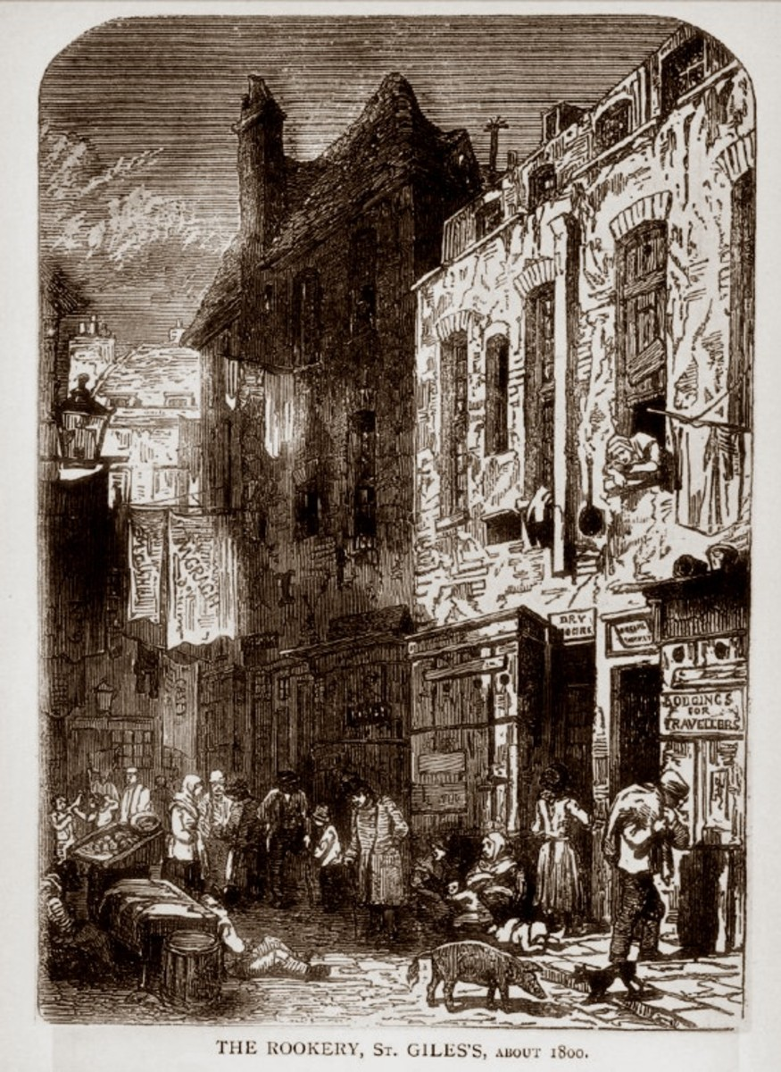 "Dickens stories, such as ""Oliver Twist,"" were based on St. Giles"