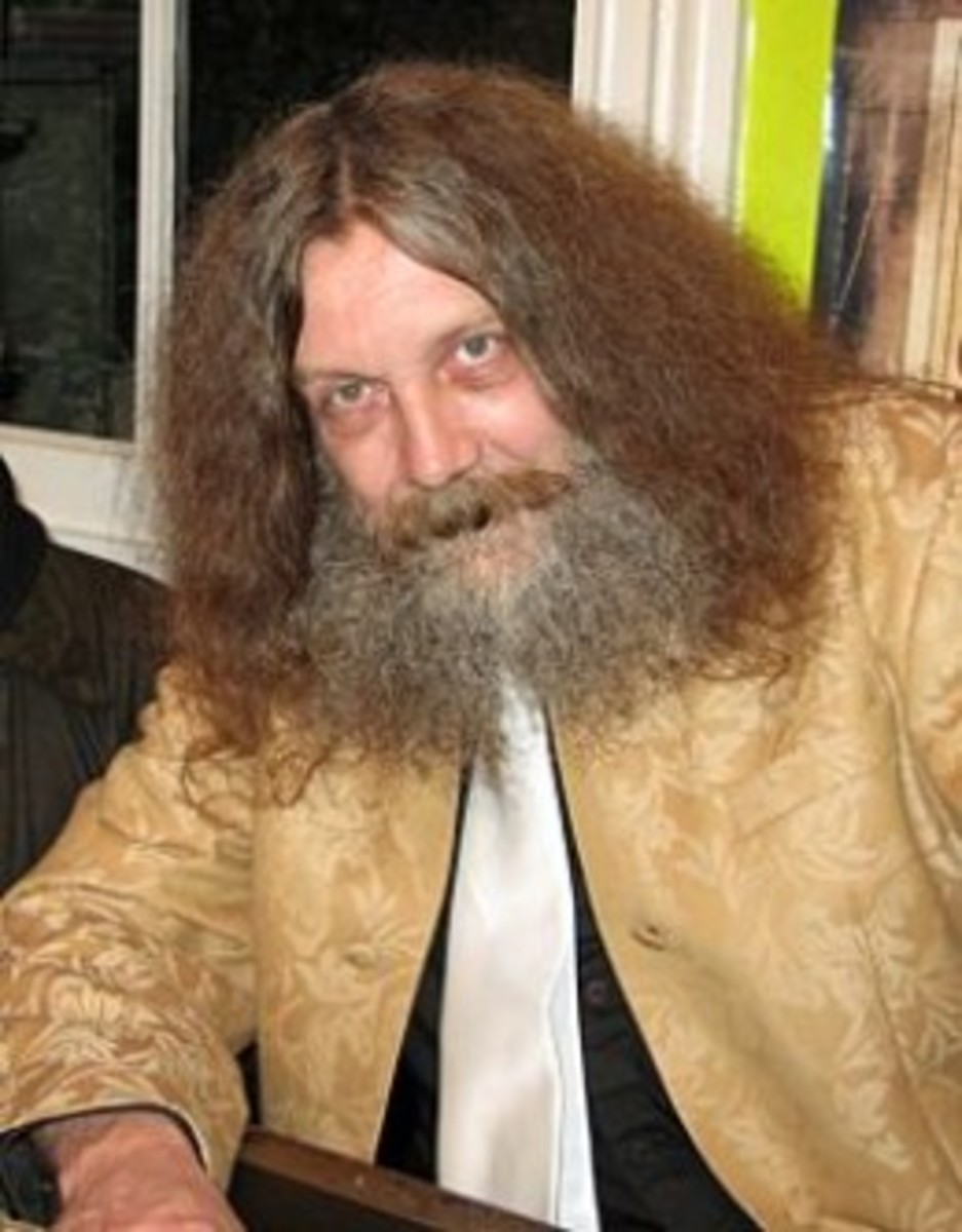 No, that's not the Swamp Thing! That's comic book writer Alan Moore!