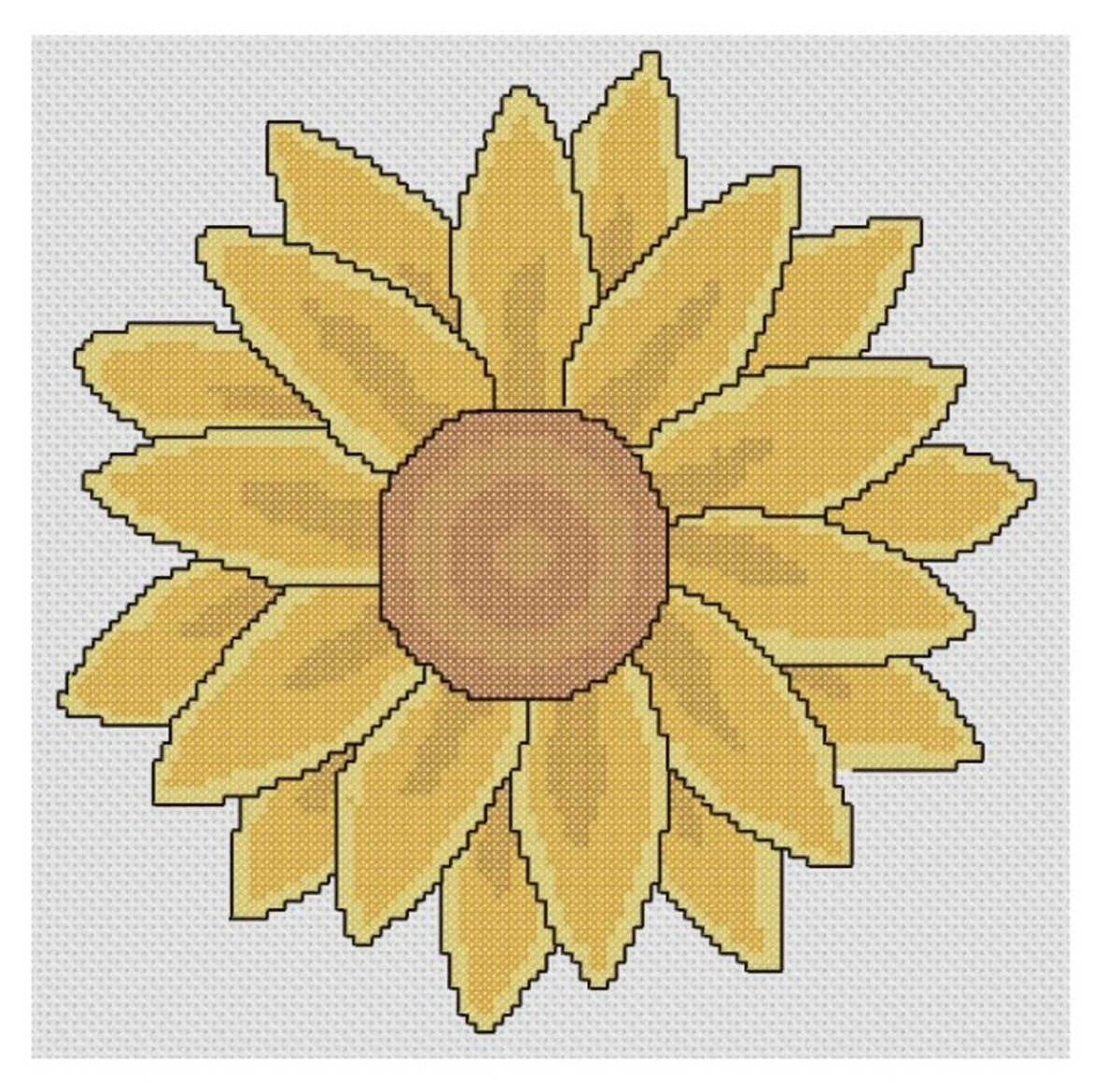 free cross stich pattern large sunflower