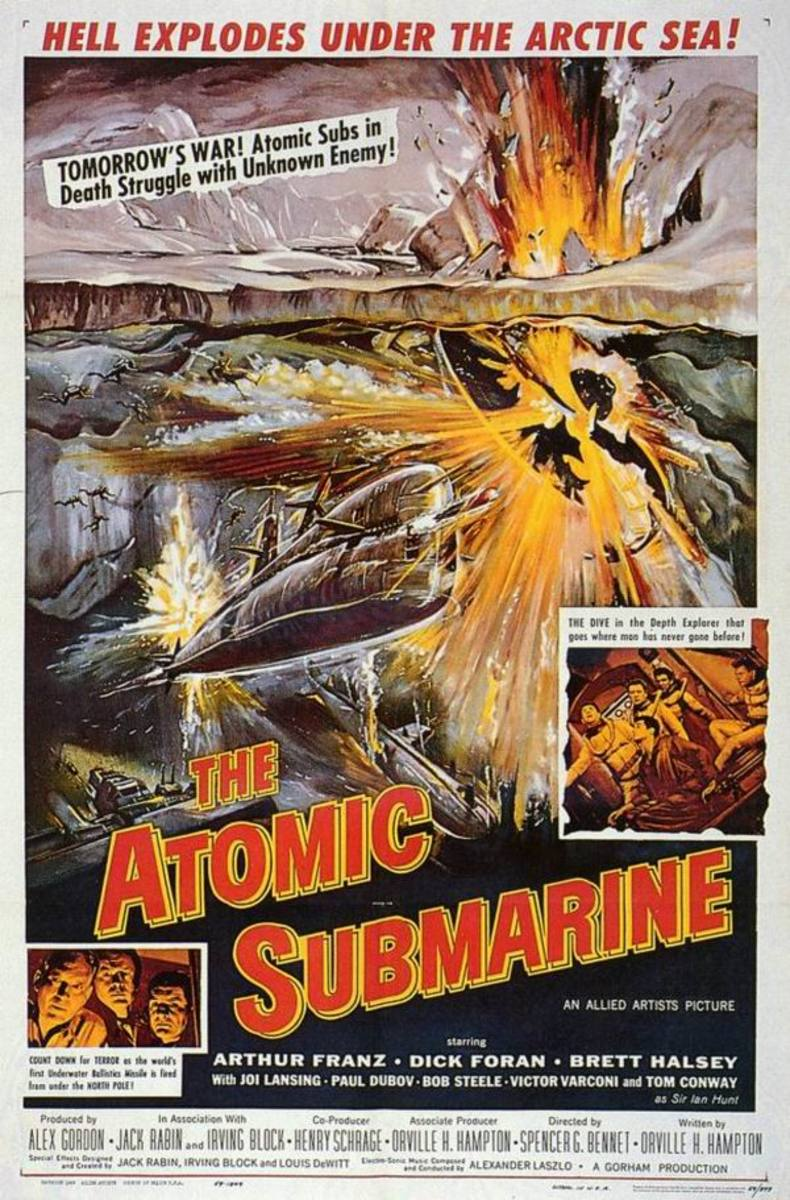 The Atomic Submarine (1959) art by Reynold Brown