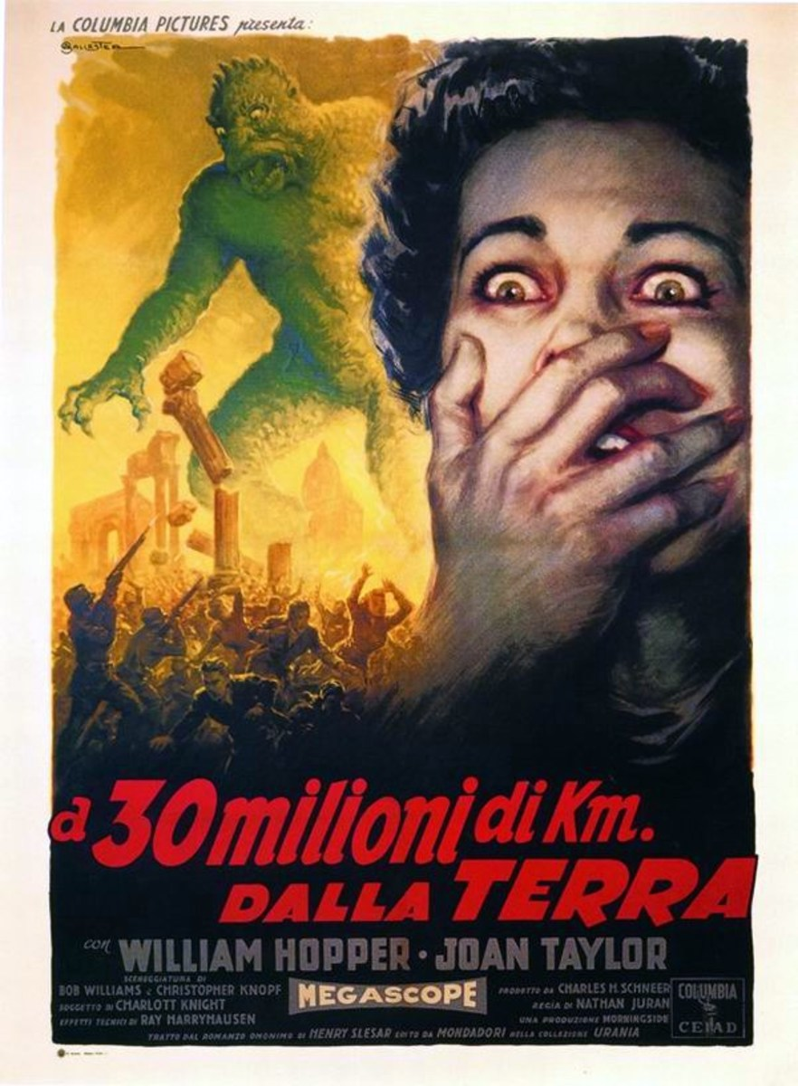 20 Million Miles to Earth (1957) Italian poster