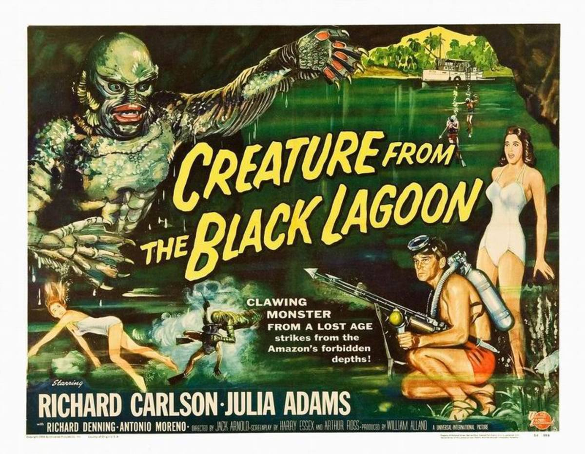 Creature from the Black Lagoon (1954) art by Reynold Brown