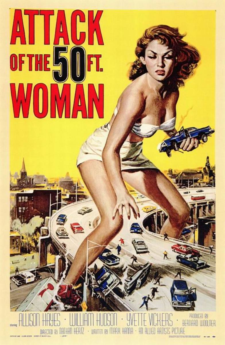 Attack of the 50 foot Woman (1958) art by Reynold Brown