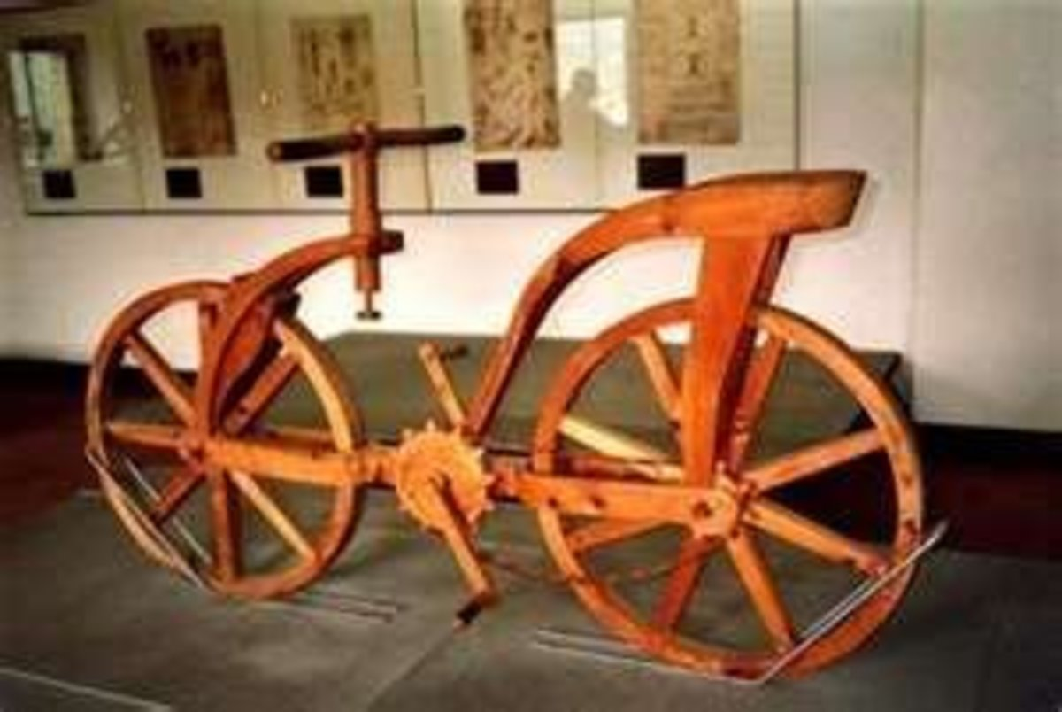 Modern Recreation of His Bicycle