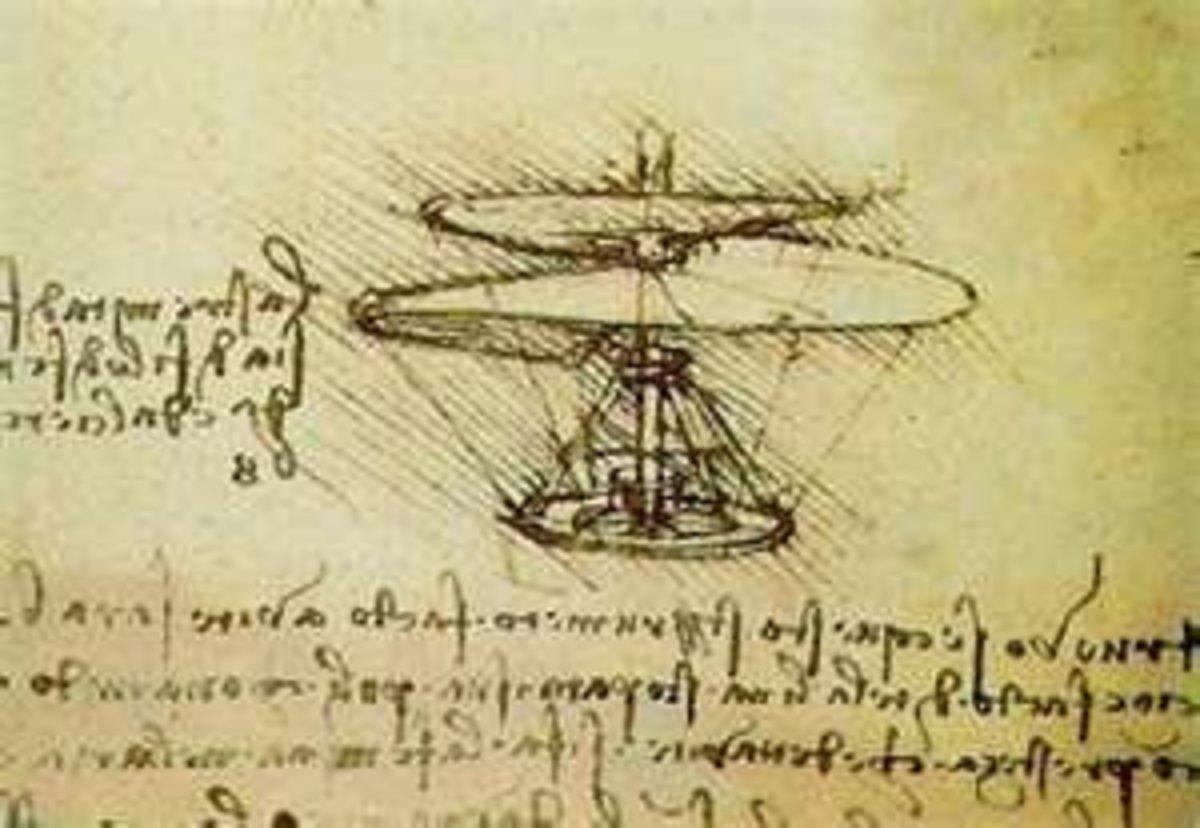 Leonardo's Helicopter Design