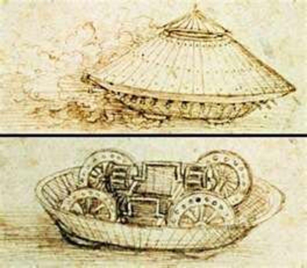 Leonardo's Design for an Armored Tank