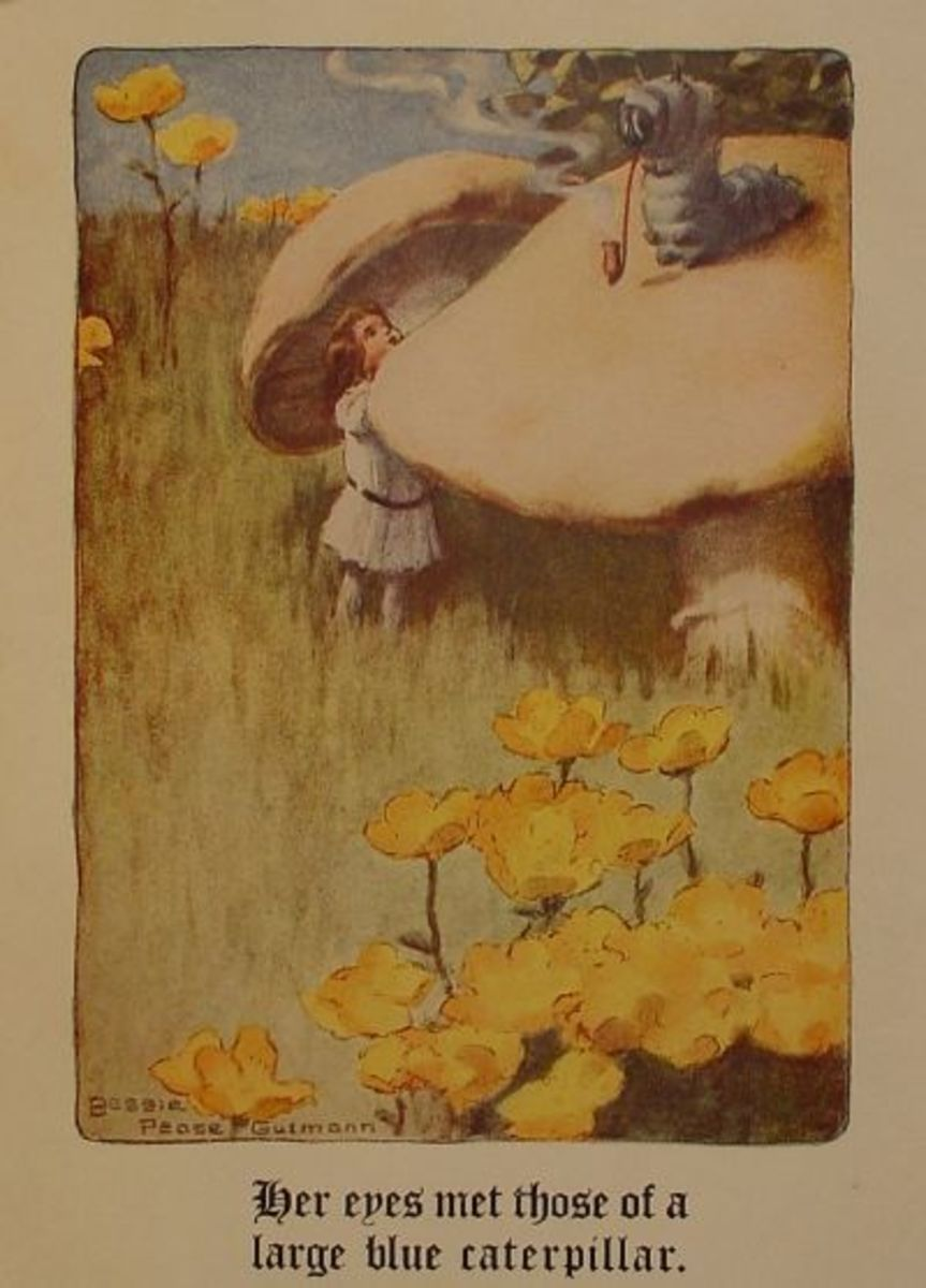 Bessie Pease Guttman illustration from Lewis Carroll's Alice In Wonderland