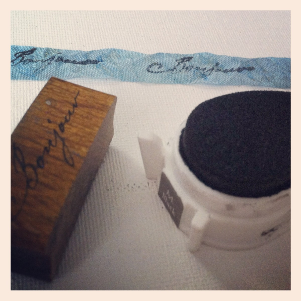 Hand stamping ribbon