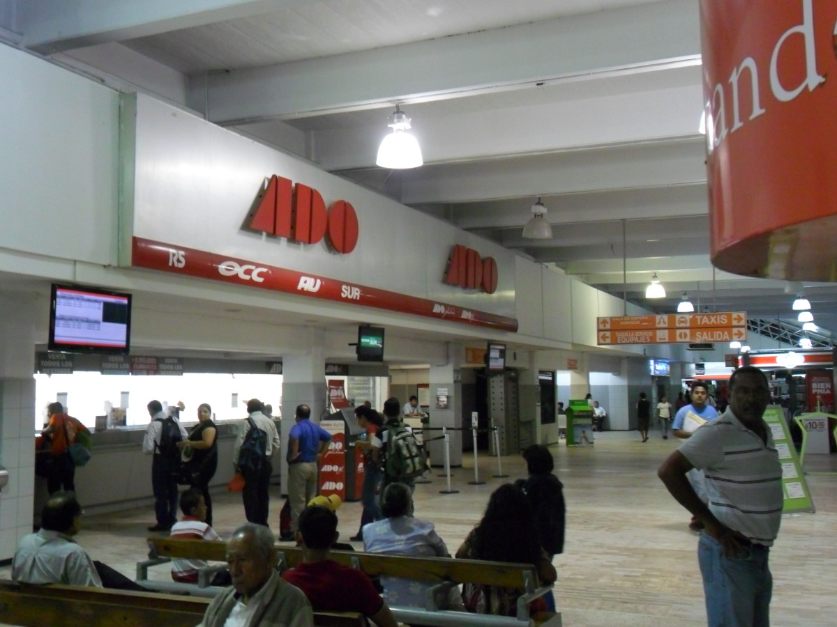 Inside the ADO Bus Station, Coatzacoalcos, Veracruz, Mexico