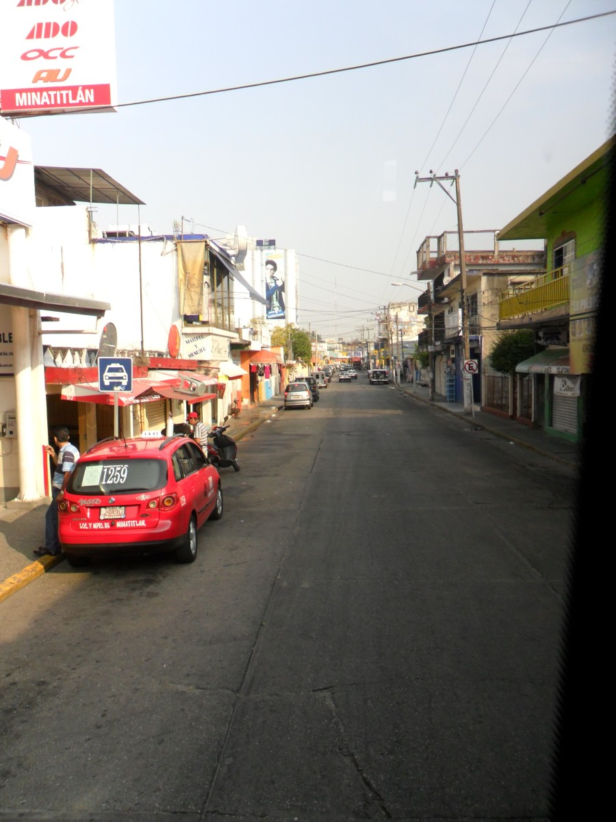 Street outside the ADO Bus Station, Minatitlán, Veracruz, Mexico