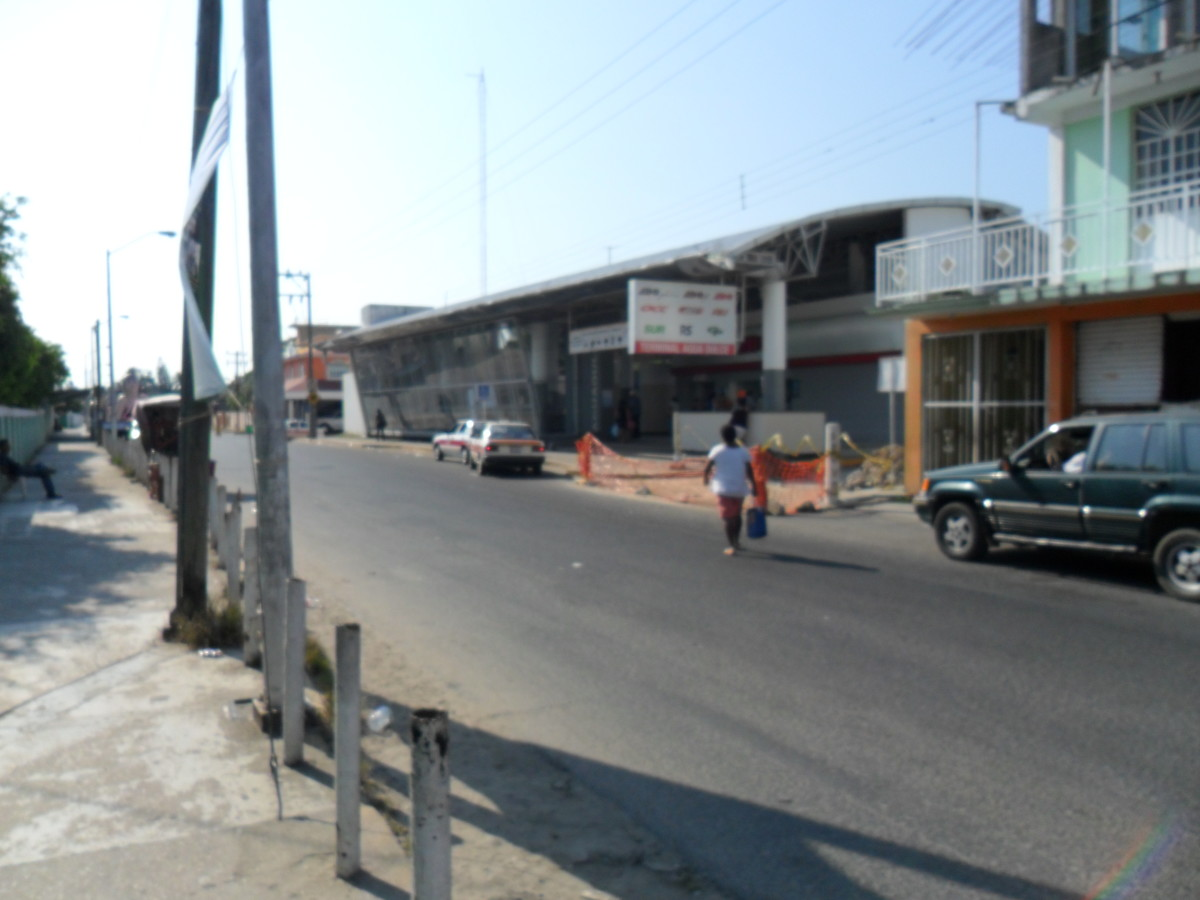 Bus Station, across from the high school, Agua Dulce, Veracruz, Mexico