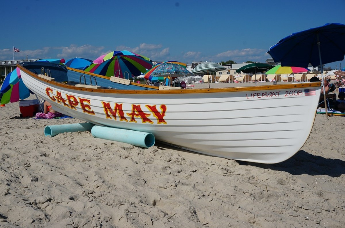 A boat on the Jersey Shore.