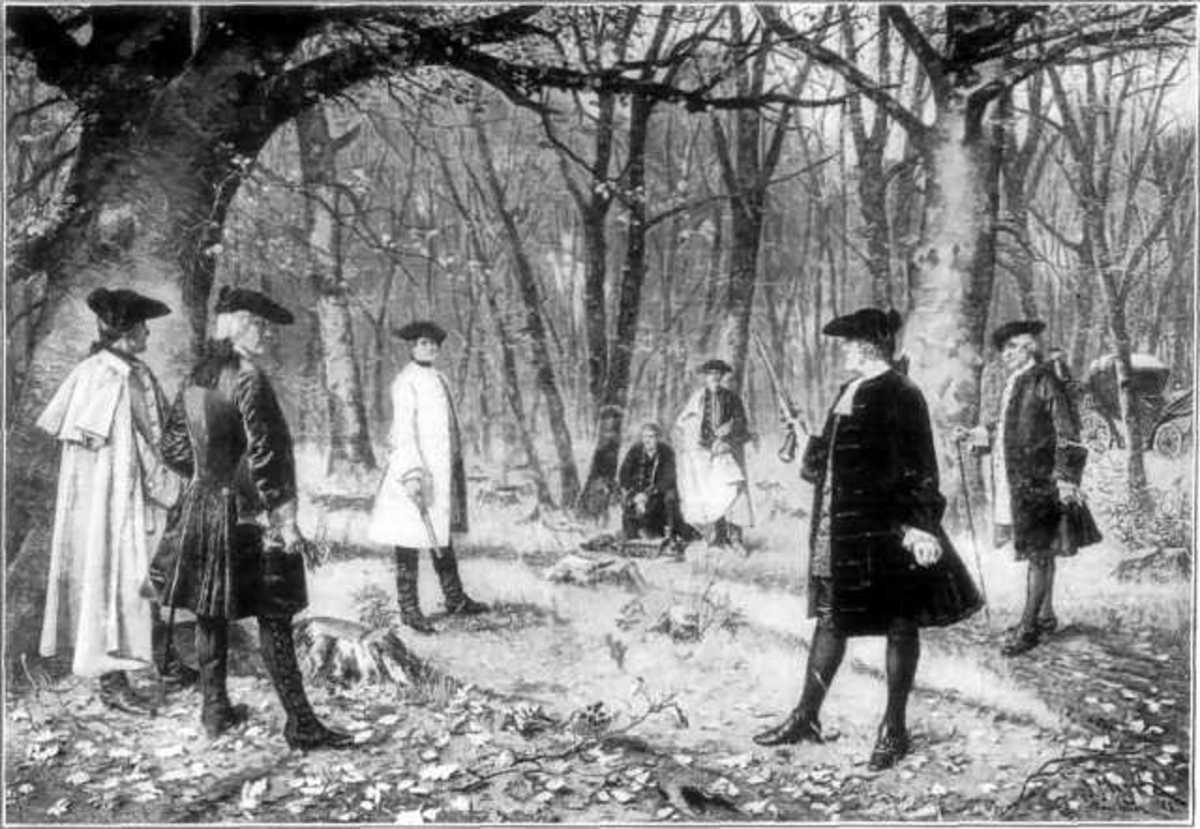 Alexander Hamilton duels with Aaron Burr at Weehawken. Hamilton dies.
