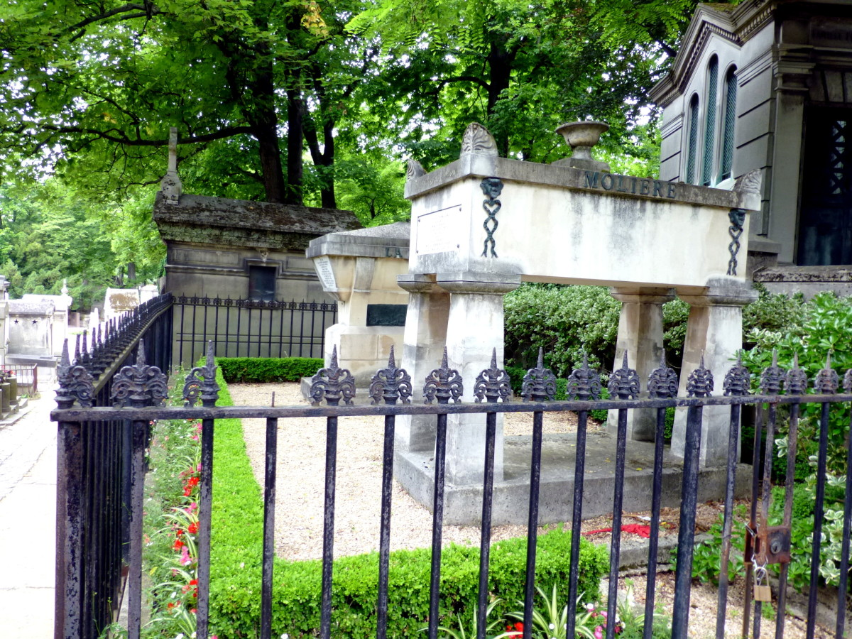 Both graves stand together in one monument