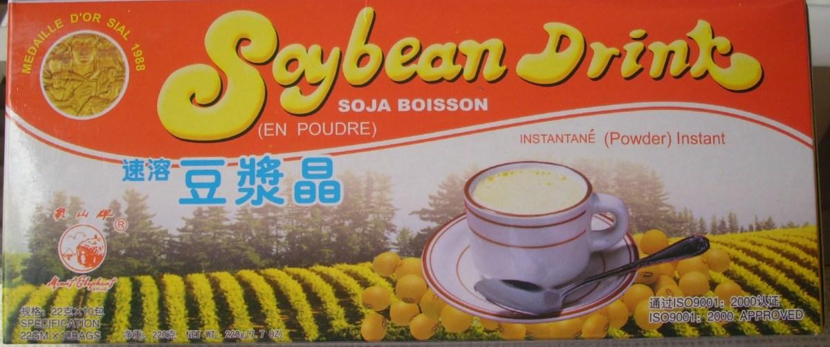 Powder  Soya  Milk  that  I´m  drinking.