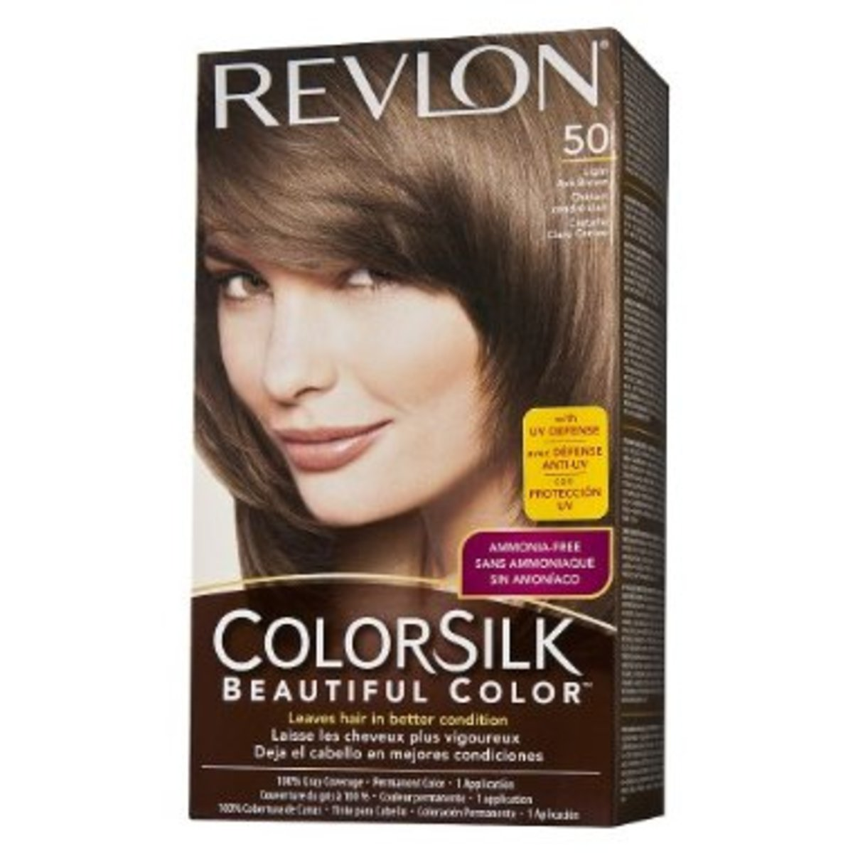 Revlon ColorSilk light ash brown