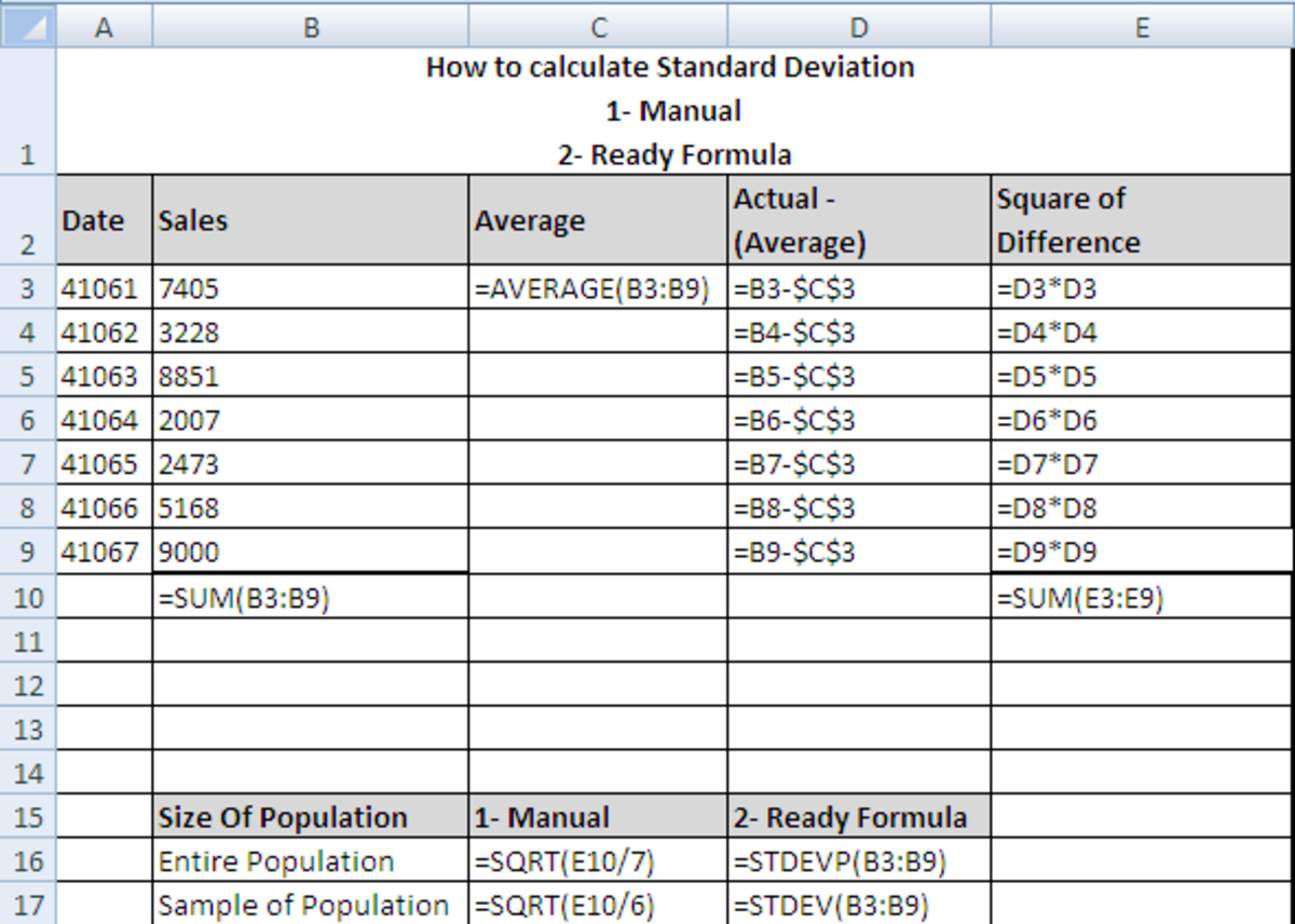 how to create standard deviation for betting