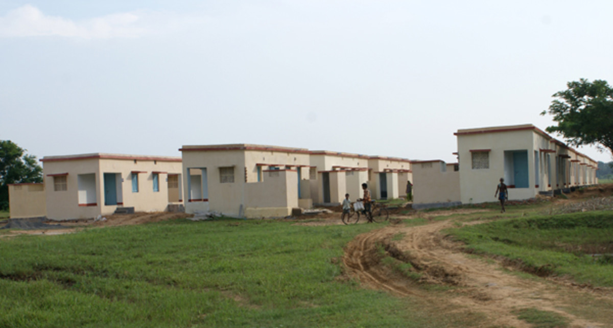This was the result of that project in Orissa - wonderful homes for the devastated villagers of Rahamba