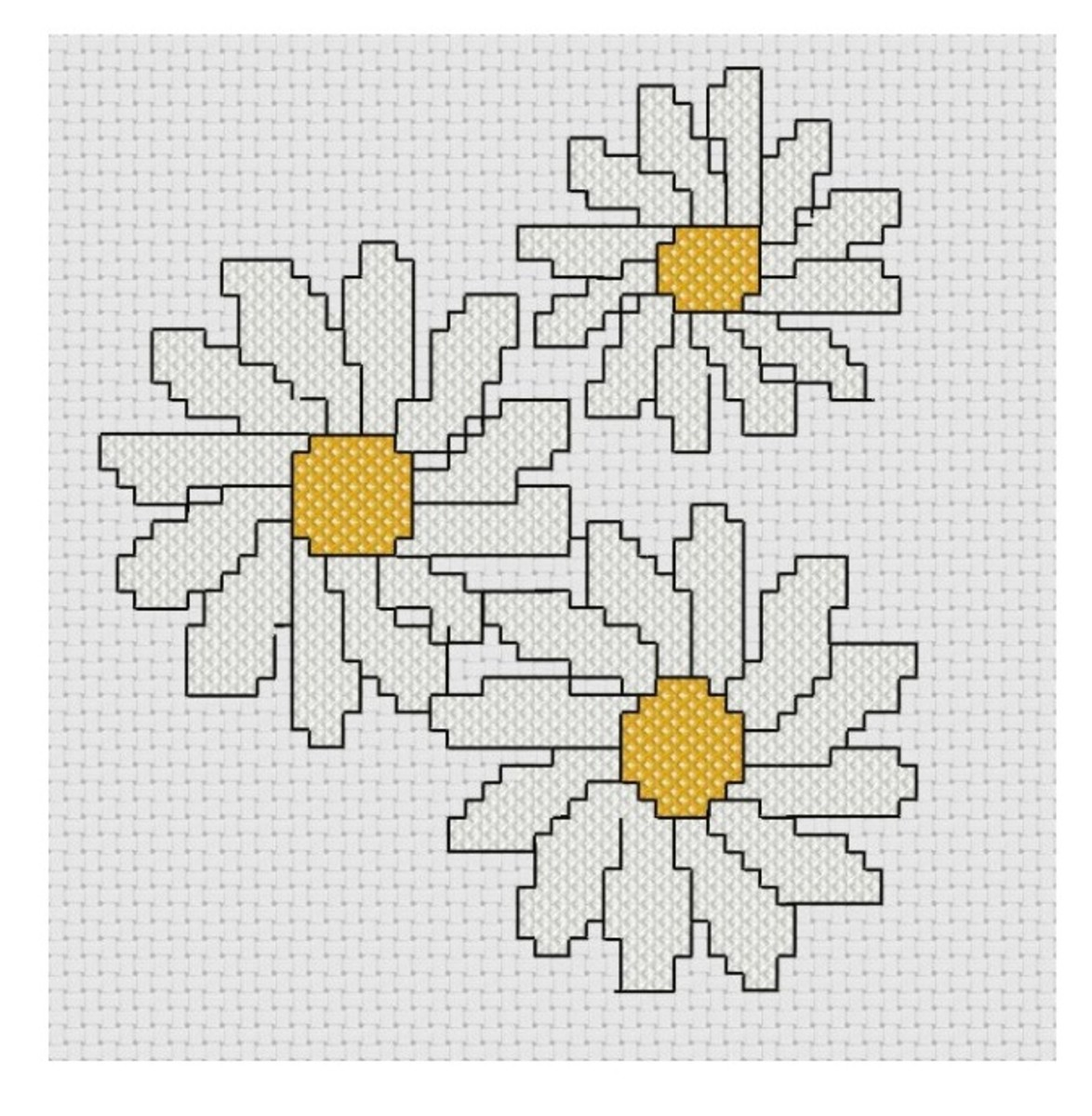 free cross stitch pattern Daisies