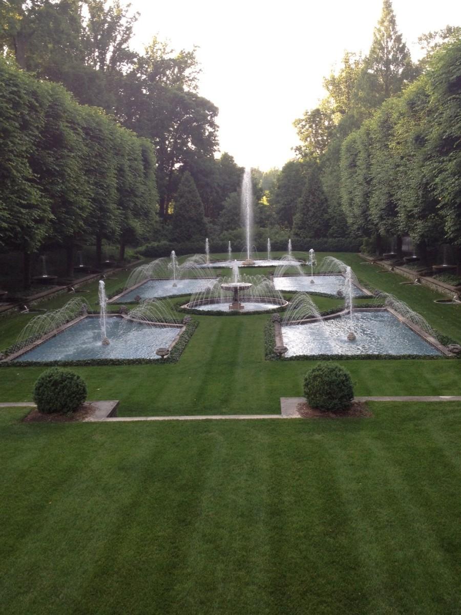 The Italian Water Garden at Longwood Gardens.