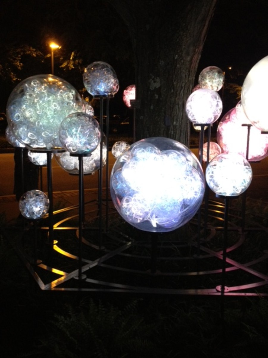A special light display held at Longwood Gardens in the summer of 2012.