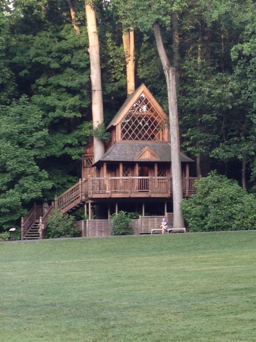 The Canopy Cathedral tree house at Longwood Gardens,