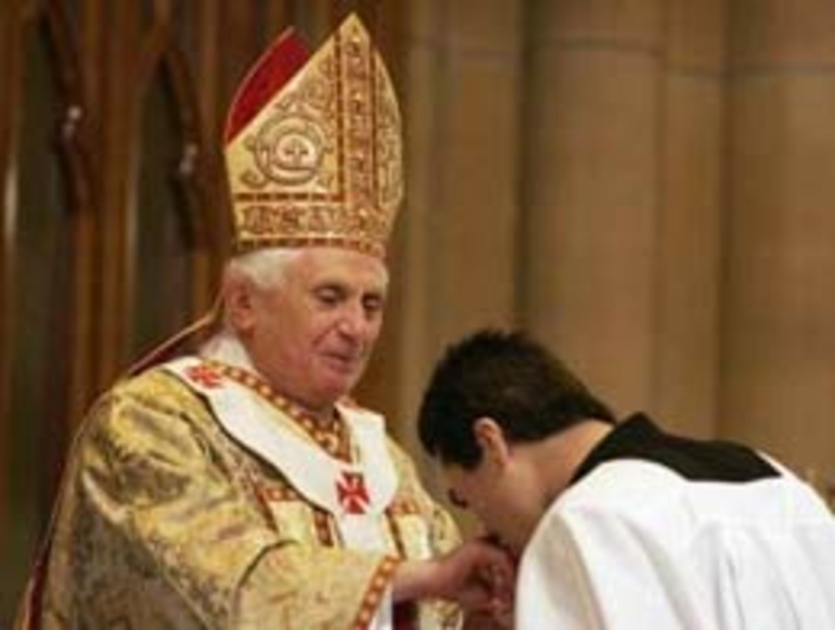 Kissing Pope ring