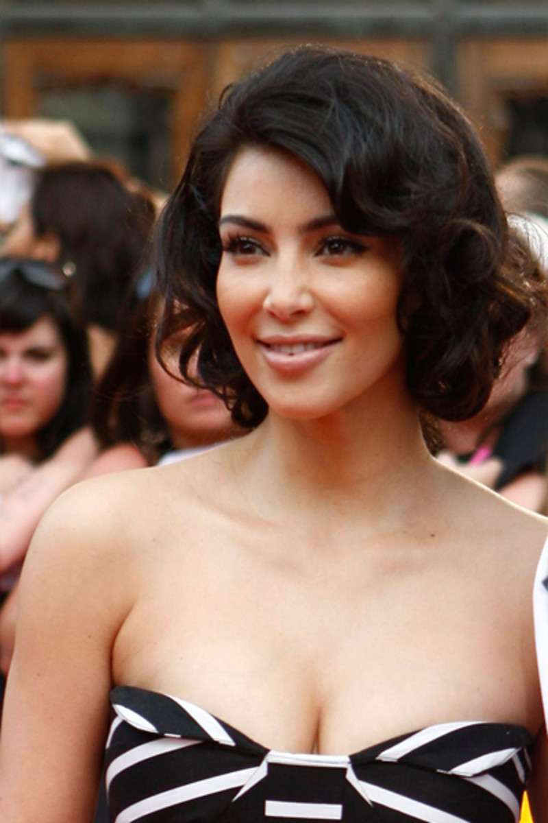 Kim Kardashian in a 50s Hairdo