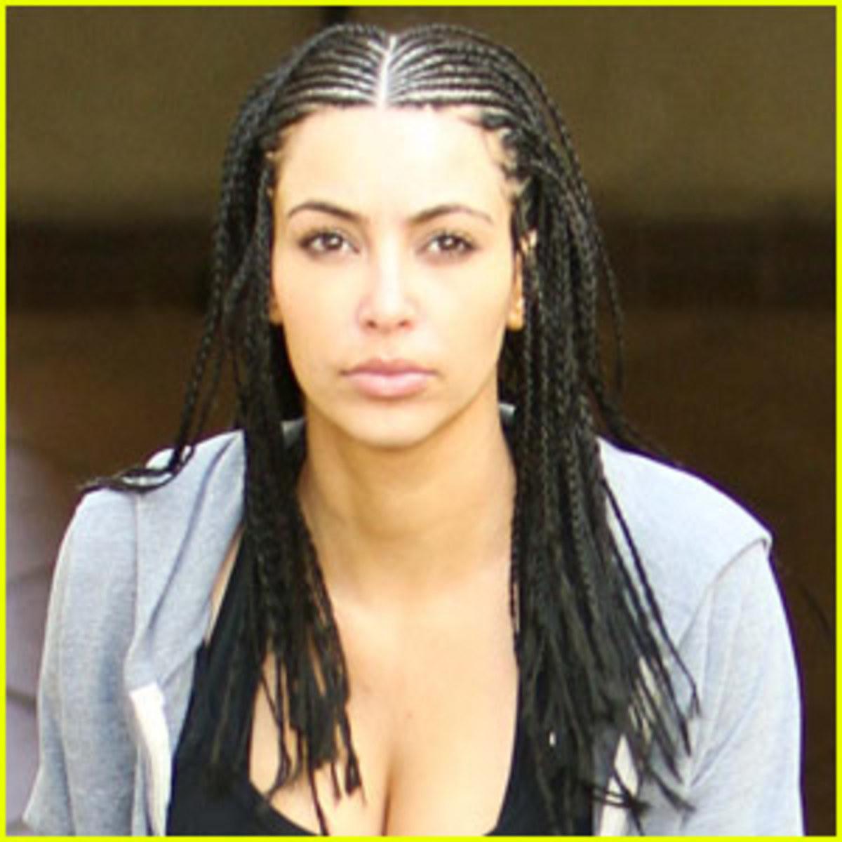 Kim Kardashian with Cornrows