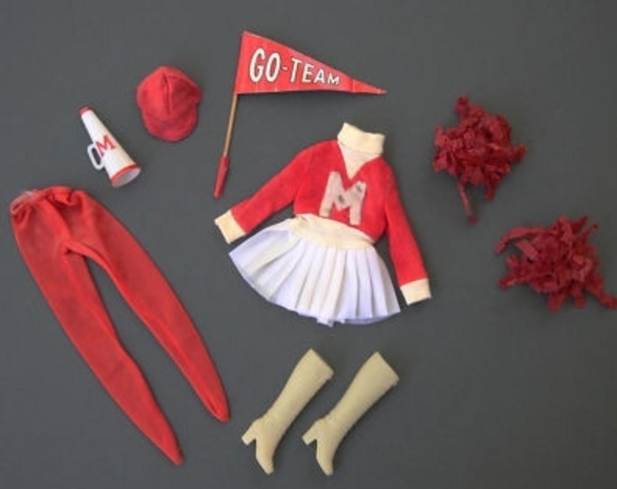 Francie Doll Get Ups 'N Go # 7711 - Cheerleader; 1973